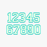 Basketball numbers set Royalty Free Stock Photography