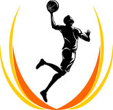 Basketball oben gelegt vektor abbildung