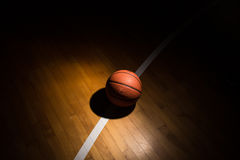 Basketball On Court Royalty Free Stock Image