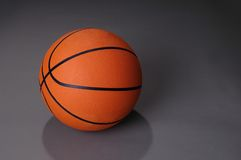 Basketball On Dark Background Stock Image