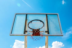 Basketball Outdoor Basketball court net hoop ring board outdoor Stock Image
