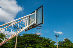 Basketball Outdoor Basketball court net hoop ring board outdoor Royalty Free Stock Photos
