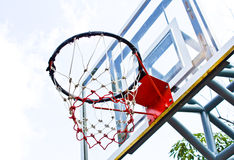 Basketball outdoor court Royalty Free Stock Images