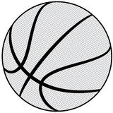 Basketball outline Royalty Free Stock Photography