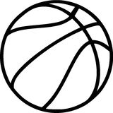 Basketball Outline. On white Background Royalty Free Stock Photo