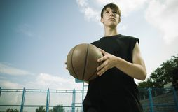 Basketball outside Stock Photography