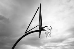 Basketball Outside Black White Royalty Free Stock Photos