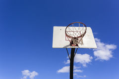 Basketball Outside Blue Stock Photo