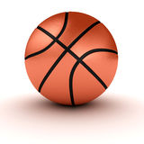 Basketball over white Royalty Free Stock Photography