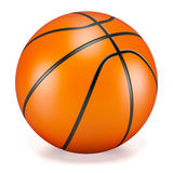 Basketball. Over a white background Stock Images