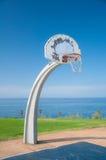 Basketball Park. Basketball net at park under bright blue sky Stock Photos