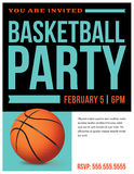 Basketball Party Flyer Invitation Illustration Stock Photo