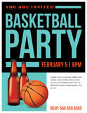 Basketball Party Flyer Template Illustration Royalty Free Stock Photos
