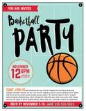 Basketball Party Invitation Template Illlustration Stock Photo