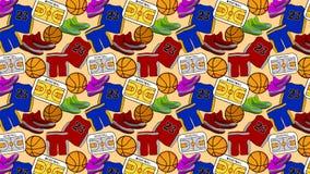 Basketball Pattern, Background, Backdrop royalty free illustration