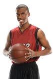 Basketball Payer Holding Ball Stock Image
