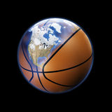 Basketball planet Royalty Free Stock Photos