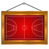 Basketball platform in a frame. On a white background Stock Photo