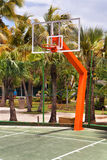 Basketball platform in the resort Royalty Free Stock Photography