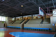 Basketball platform with tribunes Stock Images