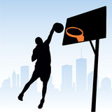 Basketball Player. Vector illustration of a basketball player Royalty Free Stock Images