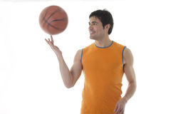 Basketball player. Isolated on white Royalty Free Stock Photos