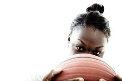 Basketball player. A high school basketball player, shot in the studio Royalty Free Stock Images