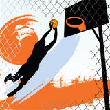 Basketball Player. Illustration of a basketball player Stock Photos