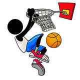 Basketball player. Silhouette-man sport icon - basketball player Royalty Free Stock Photo