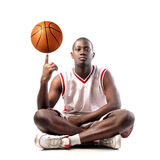 Basketball player. Portrait of a young african basketball player Stock Image