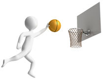 Basketball player. Throws the ball in the basket Royalty Free Stock Images