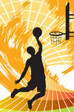 Basketball player. A illustration of a basketball player royalty free illustration