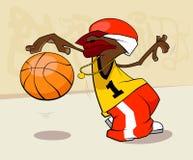 Basketball player. Star  illustration Stock Images