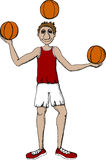 Basketball player. Vector illustration of basketball player Stock Photo