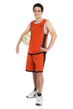 Basketball player. On white background Stock Images