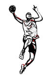 Basketball player 3 Stock Images