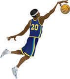 Basketball player. An illustration of Basketball player dunking a ball Royalty Free Stock Image