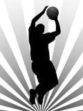 Basketball player royalty free illustration