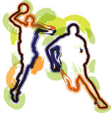 Basketball player. Abstract Basketball player. Vector illustration Stock Photos