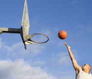 Basketball player in action Stock Images