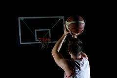 Basketball player in action Stock Image