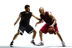 Basketball Player in action. Isolated bg Stock Photo