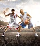 Basketball Player in action. Isolated bg Stock Images