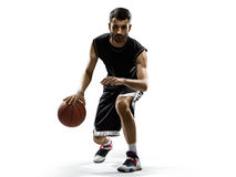 Basketball player in action isolated on white Stock Image