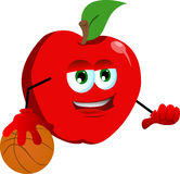 Basketball player apple Stock Photo