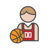 Basketball player avatar icon Royalty Free Stock Image