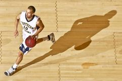 Basketball player with ball Stock Photo