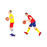 Basketball player with the ball. Stock Photography