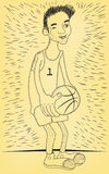 Basketball player with a ball Royalty Free Stock Images