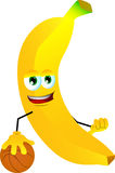 Basketball player banana Royalty Free Stock Photos
